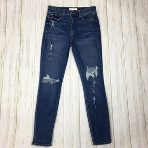 Pistola high rise distressed skinny jeans